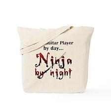 Bass Guitar Ninja Tote Bag