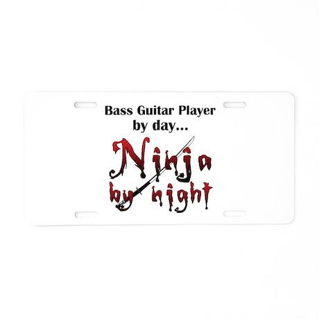 Bass Guitar Ninja Aluminum License Plate