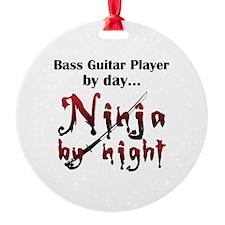 Bass Guitar Ninja Ornament