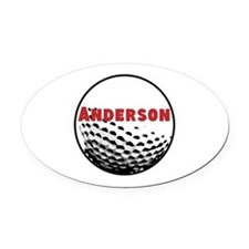 Personalized Golf Oval Car Magnet