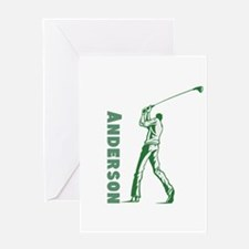 Personalized Golf Greeting Card
