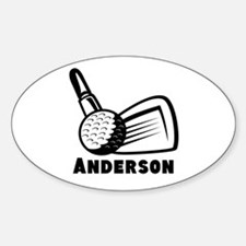 Personalized Golf Sticker (Oval)