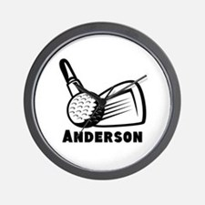 Personalized Golf Wall Clock