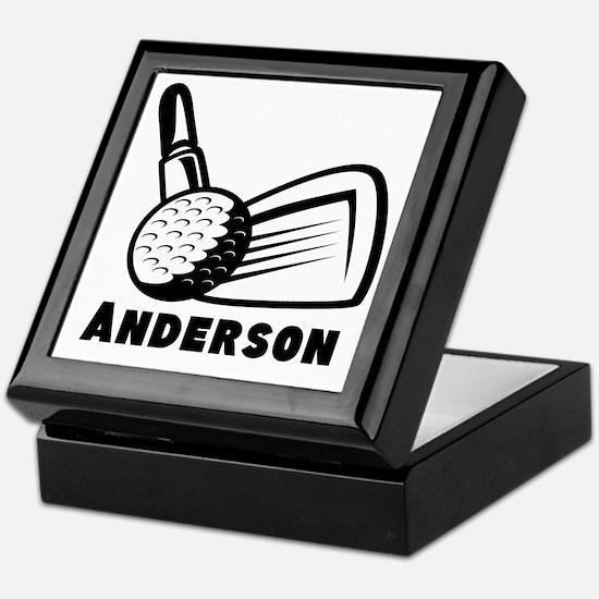 Personalized Golf Keepsake Box