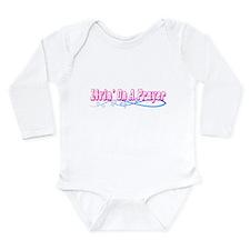Livin On A Prayer Long Sleeve Infant Bodysuit