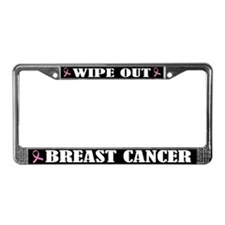 Wipe Out Breast Cancer License Plate Frame