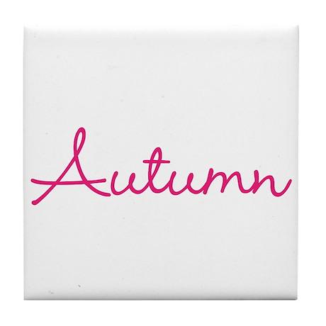 Autumn Centered Tile Coaster