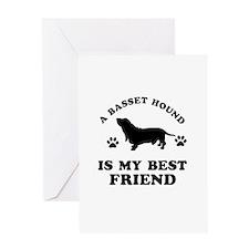 A Basset Hound is my best friend Greeting Card