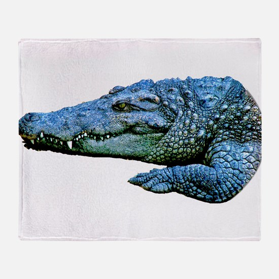 Mad Crocodile Throw Blanket
