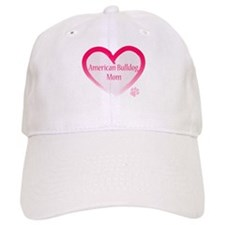 American Bulldog Mom Pink Heart Baseball Cap