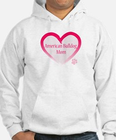 American Bulldog Mom Pink Heart Jumper Hoody