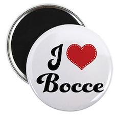 I Love Bocce Magnet