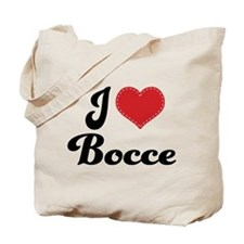 I Love Bocce Tote Bag