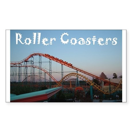 Sunset Coasters Rectangle Sticker