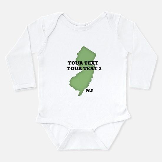 NJ YOUR TEXT Long Sleeve Infant Bodysuit