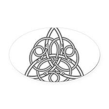 Knot Design Oval Car Magnet