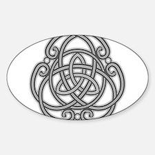 Knot Design Sticker (Oval)