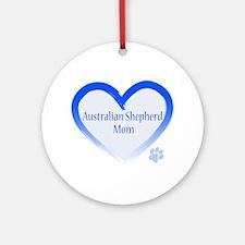 Australian Shepherd Blue Heart Ornament (Round)