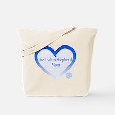 Australian Shepherd Blue Heart Tote Bag