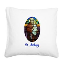 St Anthony Square Canvas Pillow