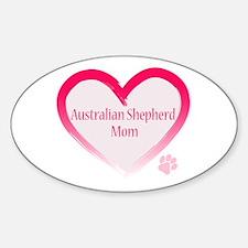 Australian Shepherd Pink Heart Decal