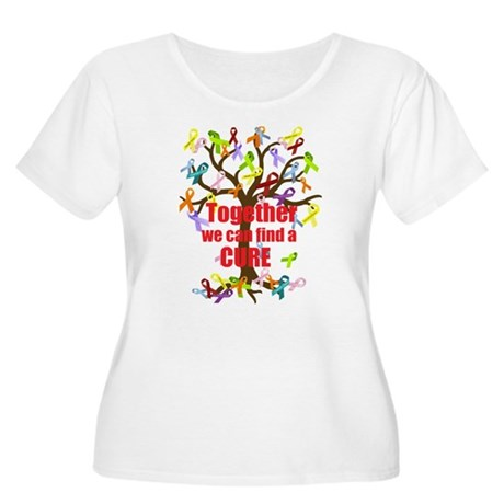 Together we can find a CURE Women's Plus Size Scoo