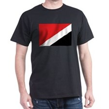 Sealand Flag Black T-Shirt