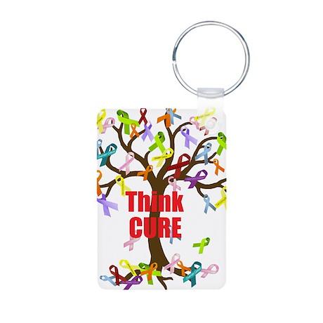 Think CURE Aluminum Photo Keychain