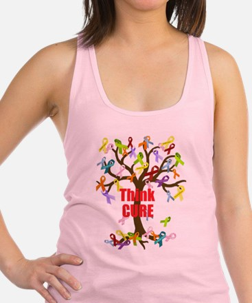 Think CURE Racerback Tank Top