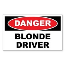 Danger - Blonde Driver Decal