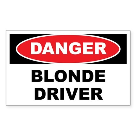 Danger - Blonde Driver Sticker