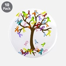 "Ribbon Tree 3.5"" Button (10 pack)"