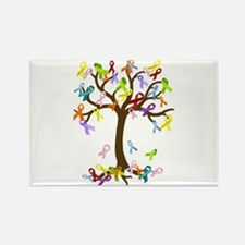 Ribbon Tree Rectangle Magnet