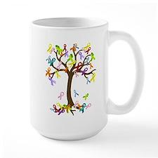Ribbon Tree Ceramic Mugs