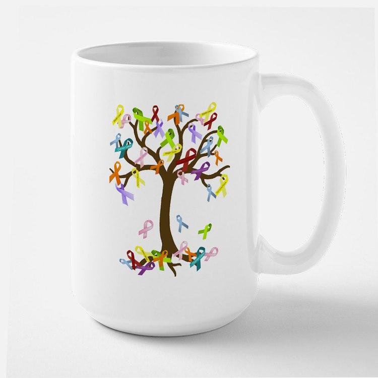 Ribbon Tree Large Mug