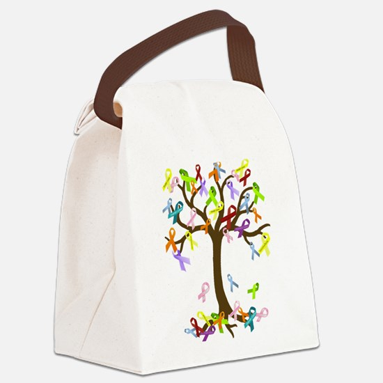 Ribbon Tree Canvas Lunch Bag