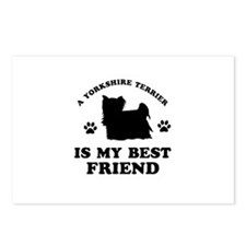 A Yorkshire Terrier is my best friend Postcards (P