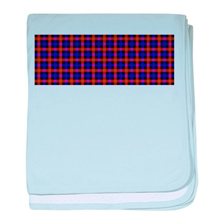 yellow and blue plaid baby blanket