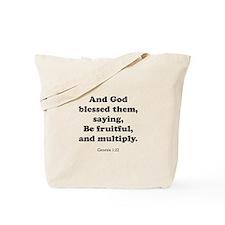 Genesis 1:22 Tote Bag