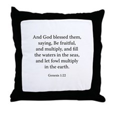 Genesis 1:22 Throw Pillow