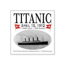 """Titanic Ghost Ship (white) Square Sticker 3"""" x 3"""""""
