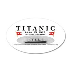Titanic Ghost Ship (white) Wall Decal