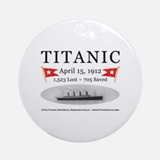 Titanic Ghost Ship (white) Ornament (Round)