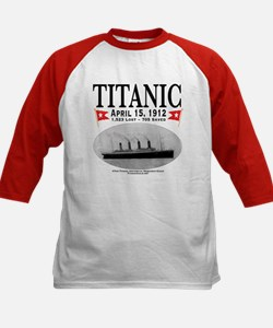 Titanic Ghost Ship (white) Kids Baseball Jersey