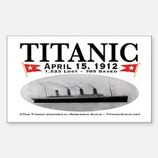 Titanic Ghost Ship (white) Rectangle Decal