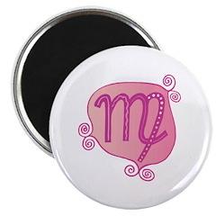 Pink Virgo Symbol Magnet
