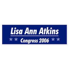 Atkins 06 Bumper Bumper Sticker