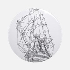 Ship Ornament (Round)