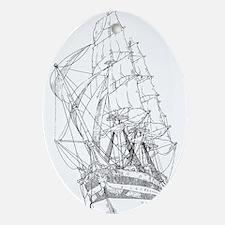 Ship Ornament (Oval)