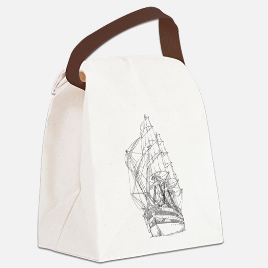 Ship Canvas Lunch Bag
